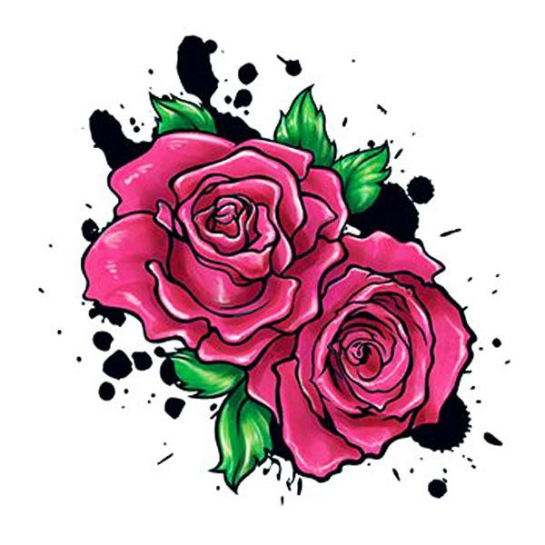 Rosen In Pink I Love Fake Tattoos