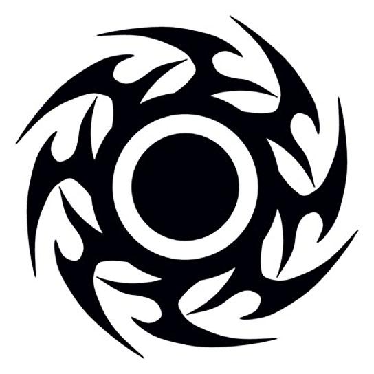 Kreis tribal i love fake tattoos for Fake tribal tattoos