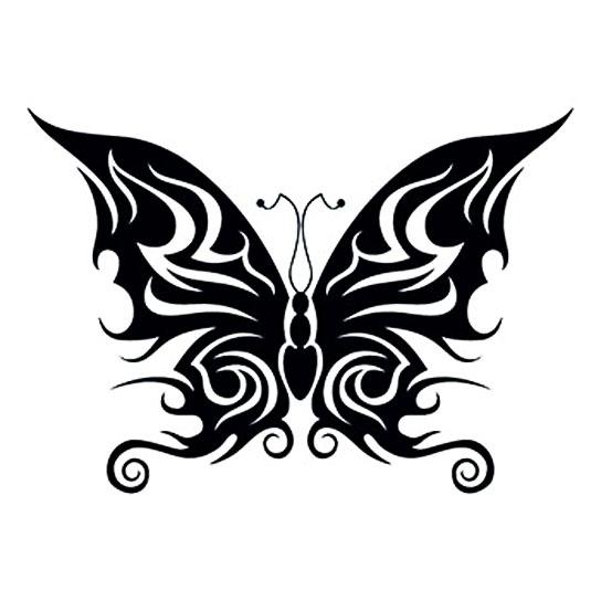 Schmetterling i love fake tattoos - Tribal papillon ...